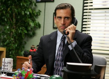 Steve Carell + Michael Scott = brilliance forever