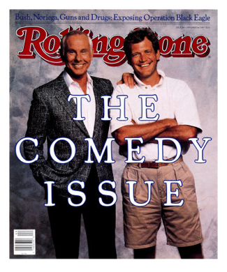 Johnny Carson and David Letterman in Rolling Stone