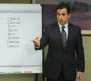 Michael Scott rules the conference room