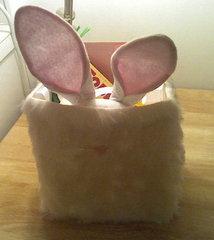 Fuzzy bunny bag