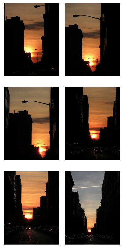 Manhattanhenge, July 2008