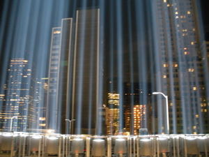 Tribute in Light, September 11, 2008