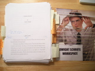 Dwight Schrute workspace