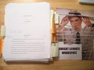 Dwight Schrute workspace