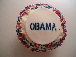 Obama Crumbs cupcake