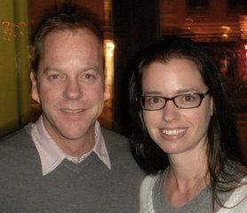 Kiefer Sutherland and Susane Colasanti