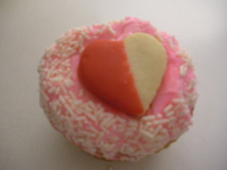 Valentine's Day cupcake from Crumbs