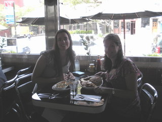 Susane Colasanti and Sarah Dessen at Empire Diner
