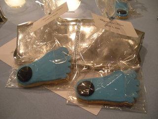 Tar Heels wedding cookies