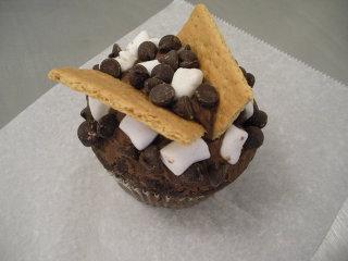 S'Mores cupcake at Crumbs