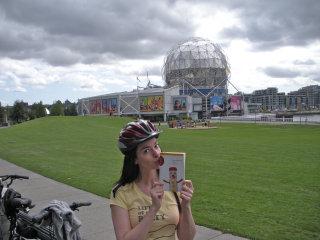 Susane Colasanti at Science World in Vancouver