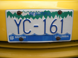 Vancouver license plate
