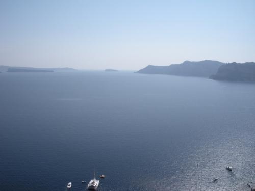 Hotel room view in Santorini