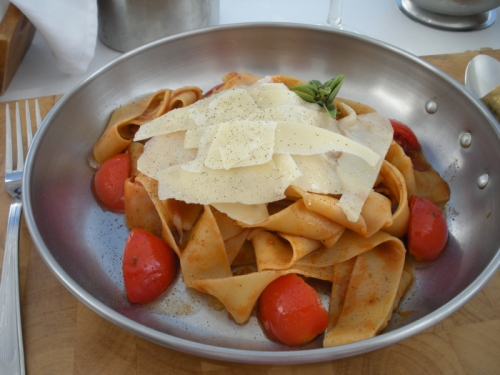 Fresh pasta in Santorini