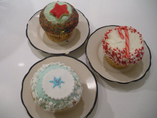 Holiday cupcakes at Crumbs