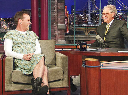 Kiefer Sutherland, David Letterman, and a dress