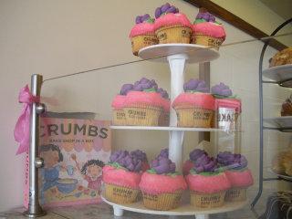Springtime cupcakes at Crumbs
