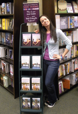 Something Like Fate by Susane Colasanti display at Barnes & Noble