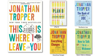 Jonathan Tropper shiny new covers