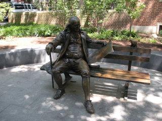 Ben Franklin bench at the University of Pennsylvania