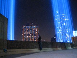 Susane Colasanti at the Tribute in Light, 2007