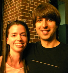 Susane Colasanti and Demetri Martin