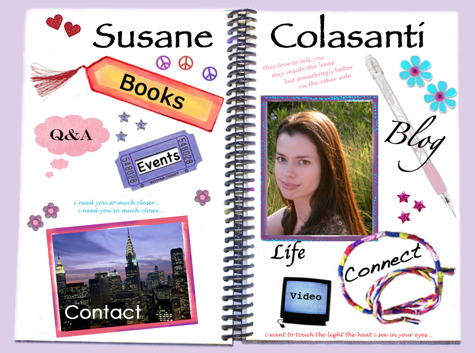Susane Colasanti's shiny new website
