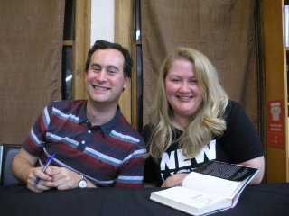 David Levithan and Rachel Cohn signing Dash and Lily's Book of Dares