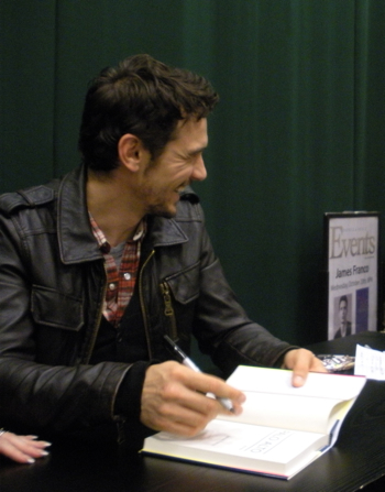 James Franco at his Palo Alto reading, Tribeca Barnes & Noble
