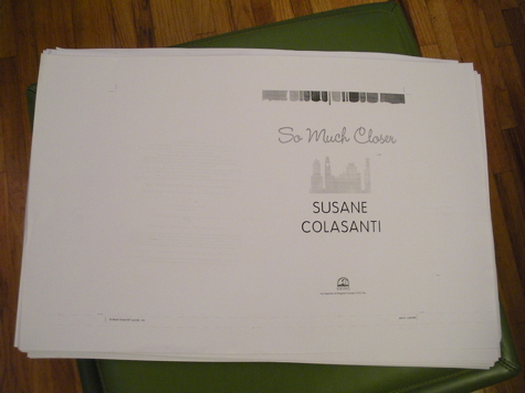 So Much Closer by Susane Colasanti first pass