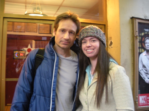 David Duchovny and Susane Colasanti