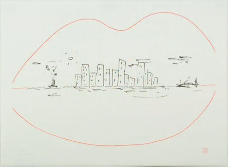 Skyline artwork by John Lennon