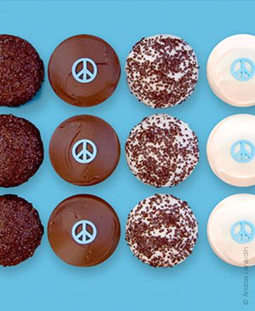 Sprinkles peace cupcakes