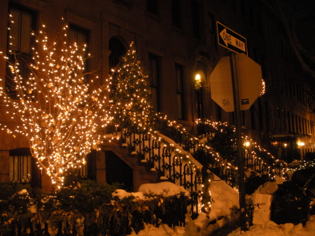 West Village Christmas decorations