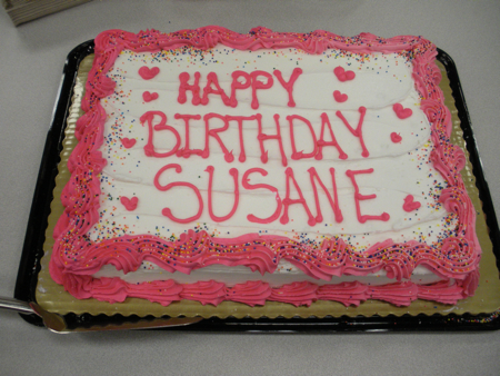 Birthday cake for Susane Colasanti on her Something Like Fate book tour