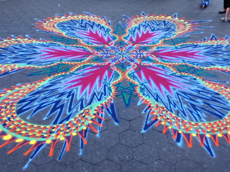 Joe Mangrum sand painting