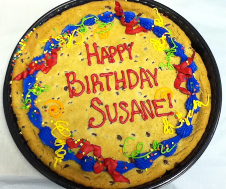 Birthday cookie from Harleysville Books
