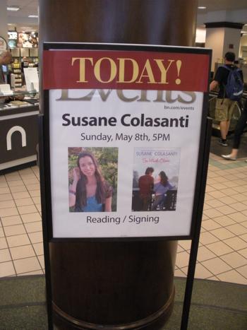 Susane Colasanti reading at Barnes & Noble