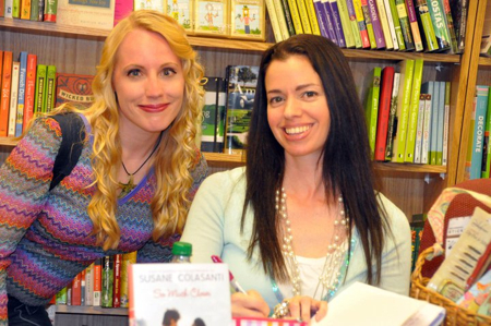 Awesome reader Cassidy with Susane Colasanti at Anderson's Bookshop in Chicago