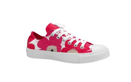 Marimekko red poppy Converse