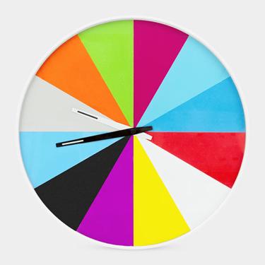 MoMA Store's Ultra-Flat Multicolor Wall Clock