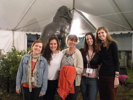 Maryrose Wood, Sarah Mlynowski, E. Lockhart, Susane Colasanti, and Joanna Pearson at the Baltimore Book Festival 2011