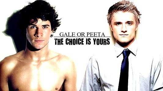 Gale Hawthorne and Peeta Mellark