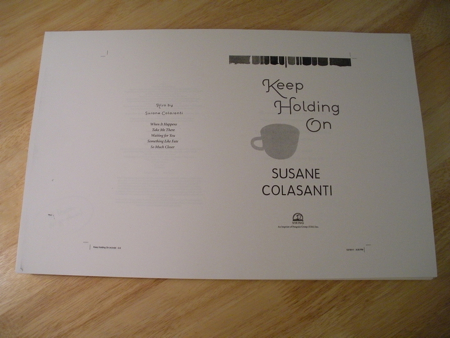 First pass of Keep Holding On by Susane Colasanti