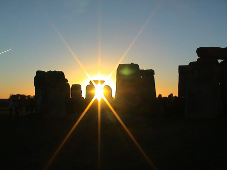 Stonehenge on the winter solstice