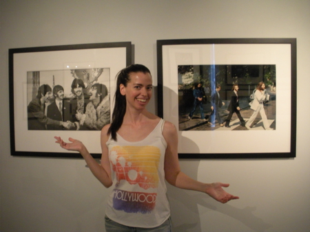 At Linda McCartney's retrospective, 2011