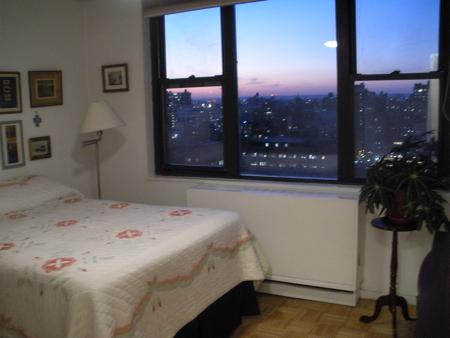 New York City sunset view