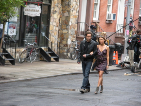 Californication shoot, West Village