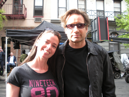 Susane Colasanti and David Duchovny