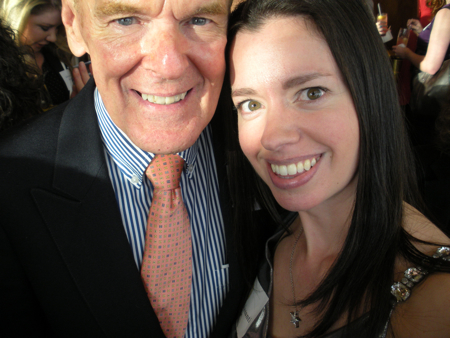 Richard Peck and Susane Colasanti at Penguin's BEA party